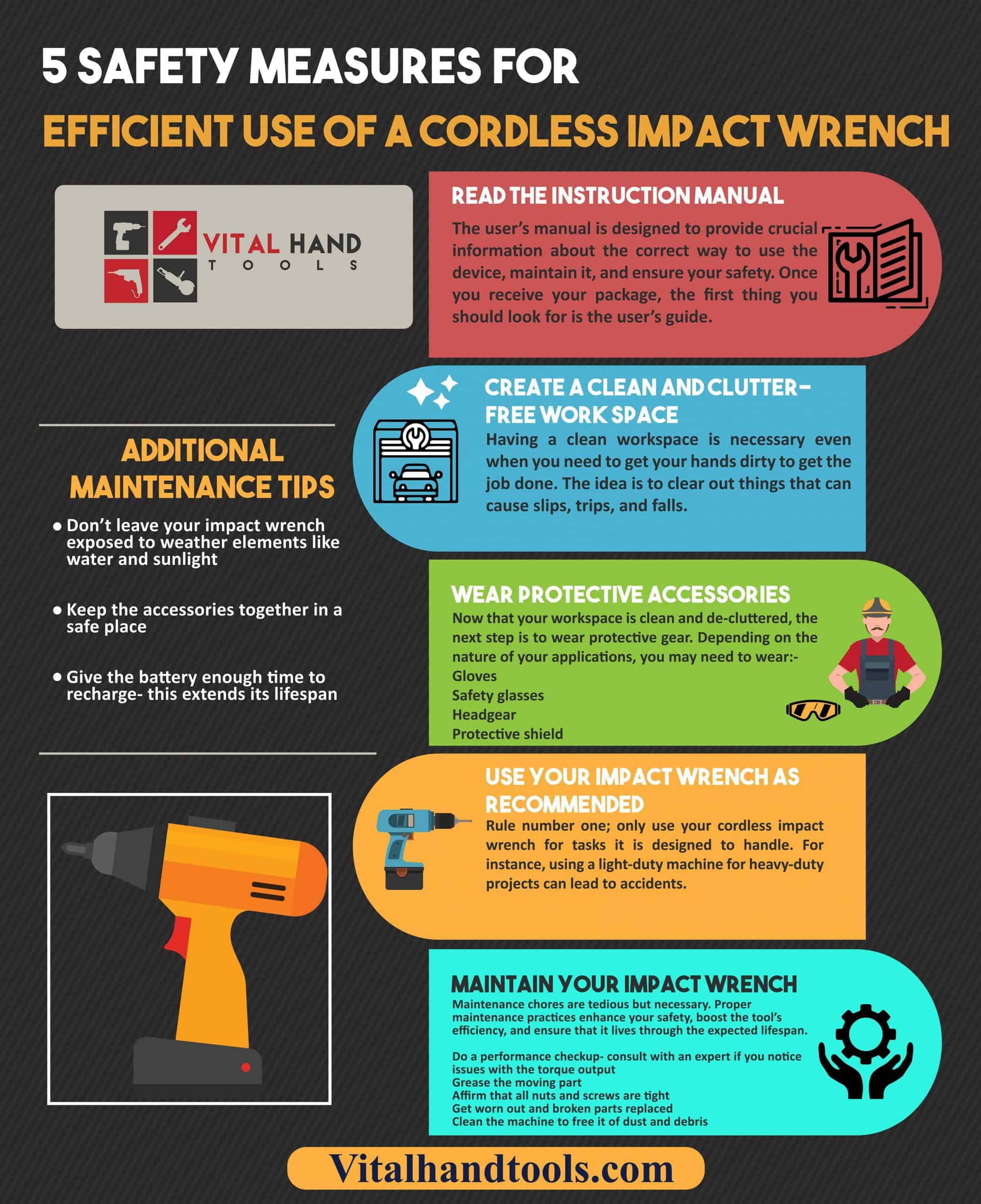 5 Important Safety Tips for Cordless Impact Wrench Safety 1