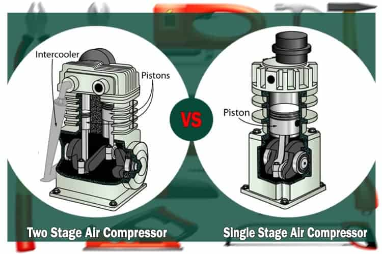 two stage vs single stage air compressor
