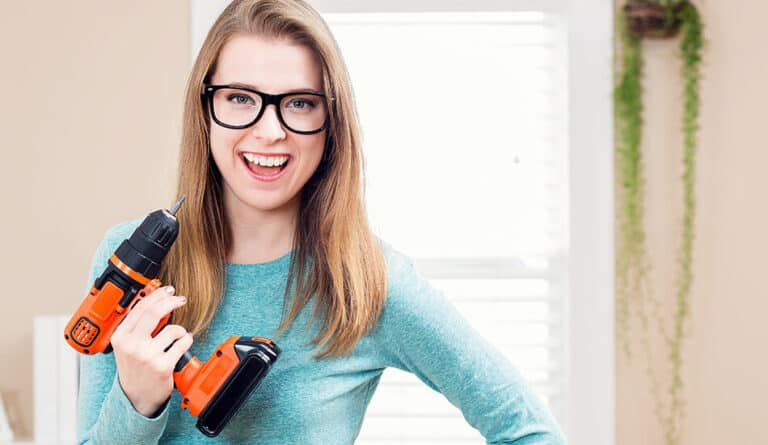 Cordless Drill​ with Women