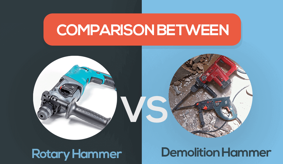 rotary hammer vs demolition hammer
